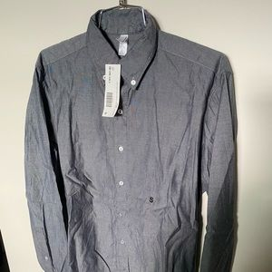 American Apparel Pinpoint L/S Button Down Shirt